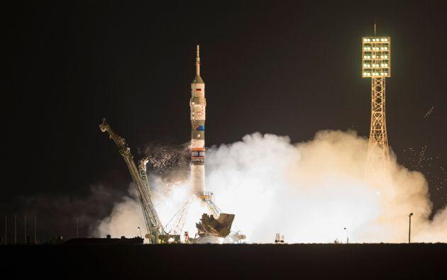 Lanzamiento de la nave Soyuz. Foto: REUTERS/Shamil Zhumatov