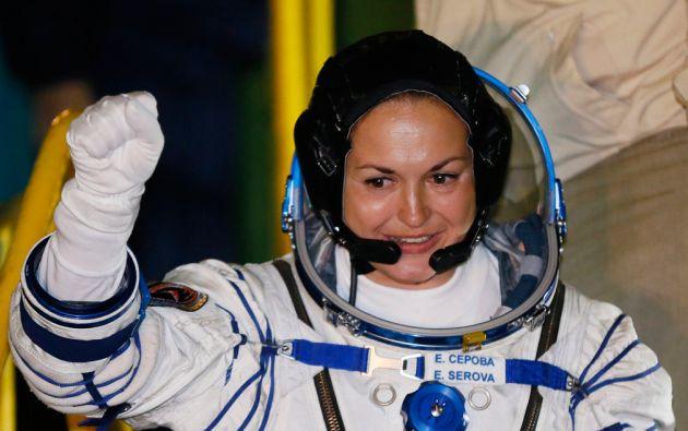 Cosmonauta Elena Serova. Foto: REUTERS/Yuri Kochetkov