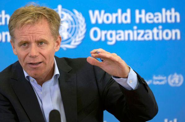 Bruce Aylward, director general adjunto de OMS. Foto: REUTERS/Denis Balibouse