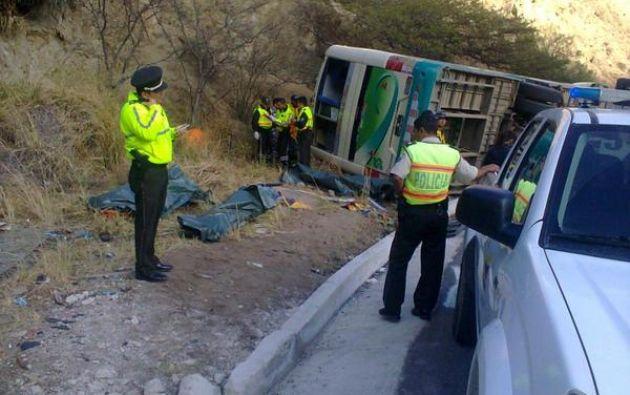 Según el ECU-911 se registran cuatro fallecidos de nacionalidad peruana. Foto: ECU-911