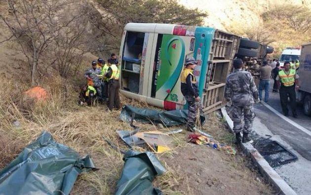 El bus cubría la ruta Piura-Loja. Foto: ECU-911