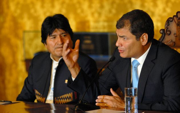"""Rafael Correa considera el triunfo de Morales como """"otro golpe a la restauración conservadora"""". Foto: FLICKR/Presidencia de Ecuador"""