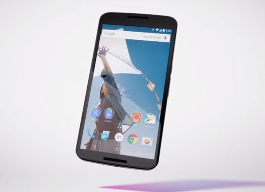 El Nexus 6 le quiere plantar competencia al iPhone 6 Plus de Apple.