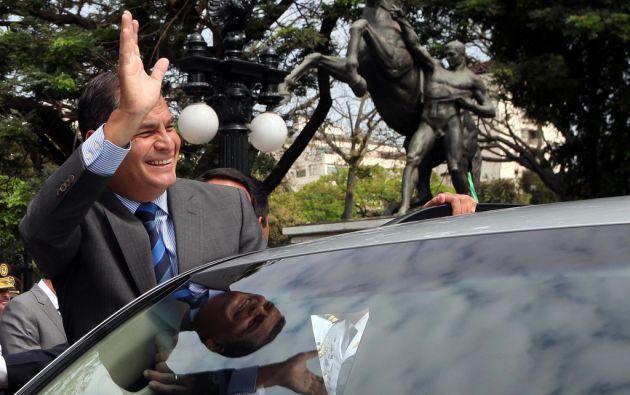 El presidente Rafael Correa viajó esta mañana. Foto: Flickr/PresidenciaEcuador.
