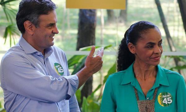 Marina Silva, tercera en los comicios, manifestó su apoyo al candidato opositor. Foto. REUTERS