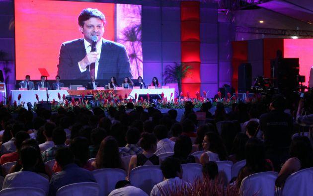 """""""Ikiam es, sobre todo, soberanía"""", dijo el ministro coordinador de Conocimiento, Guillaume Long. Foto: FLICKR/Presidencia de Ecuador"""