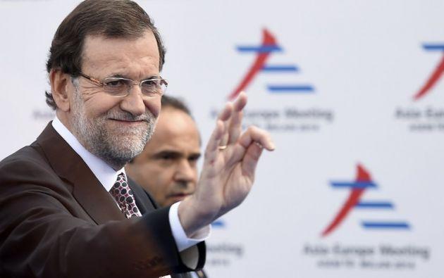 Mariano Rajoy se reunió cerca de una hora con Lilian Tintori. Foto: AFP / Olivier Morin