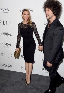 Renee Zellweger junto a su pareja, el músico Doyle Bramhall. Foto: AFP