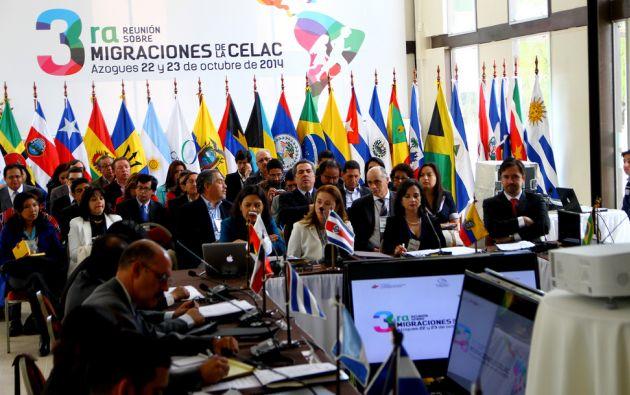 El encuentro se inauguró hoy 22 de octubre, en Azogues. Foto: Flicker / Cancillería Ecuador