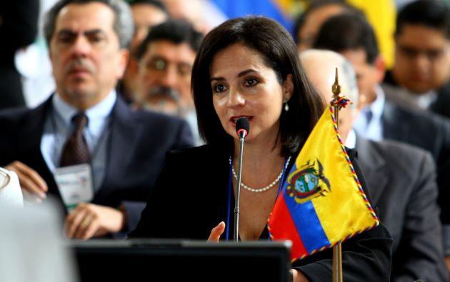 Viceministra ecuatoriana de Movilidad Humana, María Landázuri. Foto: Flicker / Cancillería Ecuador