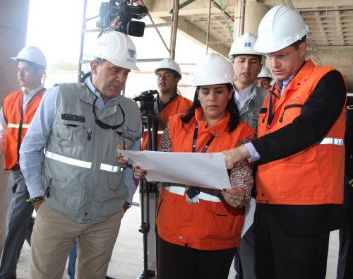 El alcalde evidenció el avance en las obras de la ampliación de la terminal área de la terminal de pasajeros.