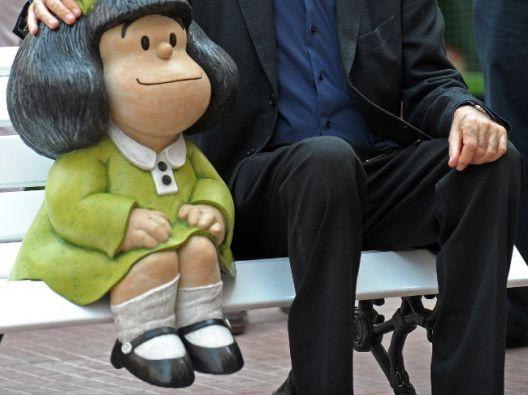 Quino fue el creador de este gran personaje, Mafalda. Foto: AFP