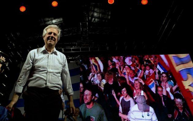 Candidato del partido Frente Amplio, Tabaré Vásquez. Foto: AFP
