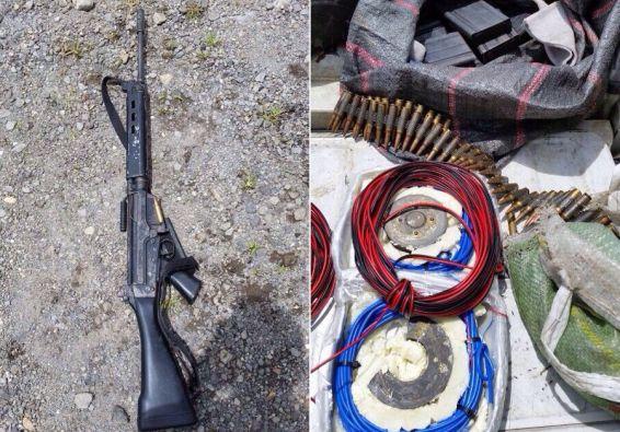 Armas, municiones y material explosivo utilizados en el asalto. Fotos: FLICKR/Ministerio del Interior