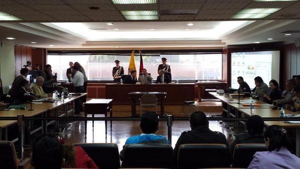 Es el cuarto día en el que se reinstala la audiencia en la Corte Nacional de Justicia. Foto: Twitter / Corte Nacional