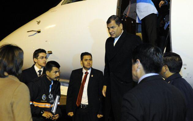 Rafael Correa arribó a Suiza el 23 de octubre. Foto: Flickr / Presidencia de Ecuador