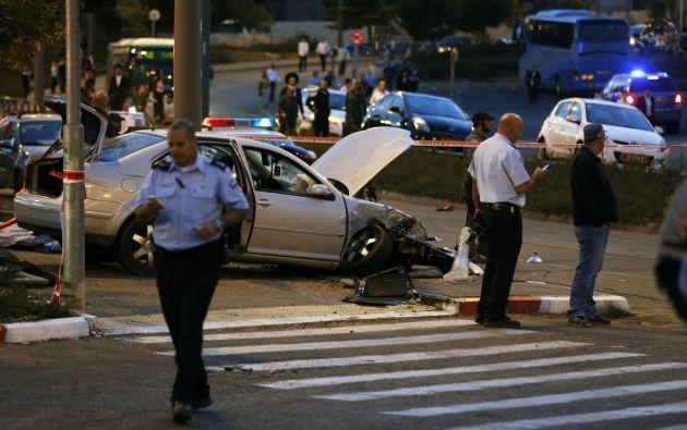 El atacante embistió con un vehículo. Foto: REUTERS