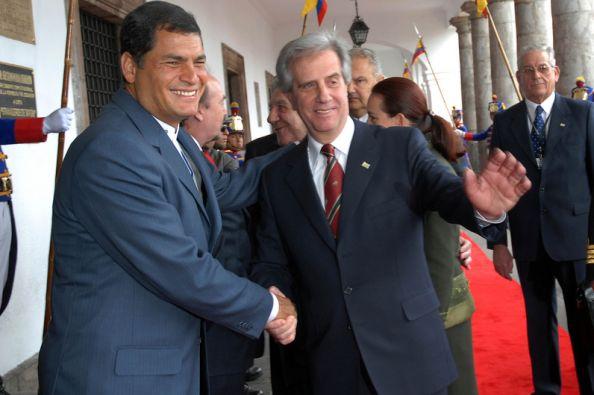 El exmandatario de Uruguay Tabaré Vázquez visitó Ecuador en 2007. Foto:  FLICKR/Presidencia de Ecuador