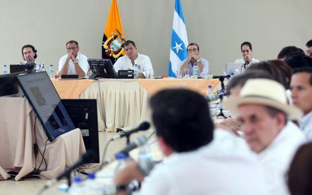 Ministros y el primer mandatario se congregaron en la cita de trabajo. Foto: Flickr / Presidencia Ecuador