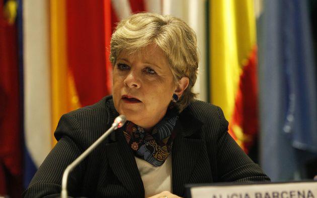 Alicia Bárcena, secretaria de la Cepal. Foto: FLICKR/Cepal