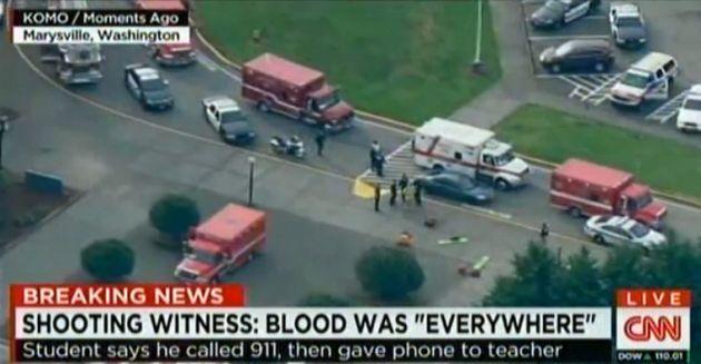 El incidente en Marysville, Seattle, es el último registrado en centros de enseñanza de EEUU. Foto: AFP/CNN/KOMO