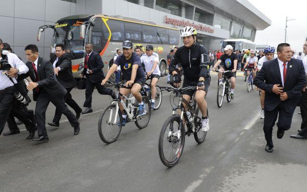 """El paseo fue una oportunidad para que ambos presidentes afirmaran su ''amistad personal"""". Foto: Flickr / Presidencia Ecuador"""