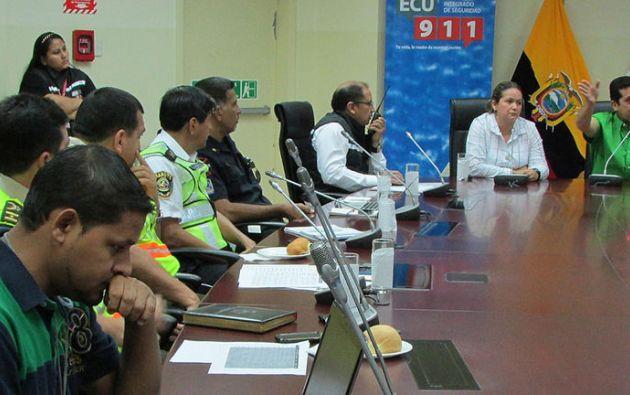 Autoridades se reunieron en el ECU-911 para presentar e iniciar los operativos. Foto: Flickr / Ministerio del Interior