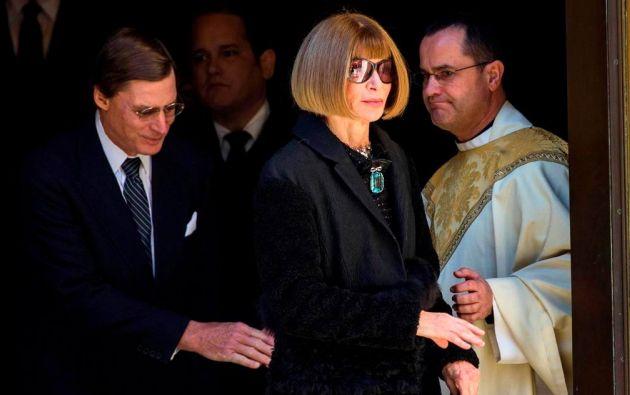 Anna Wintour, editora de la revista Vogue, acudió<br>a la ceremonia. Foto: REUTERS/Lucas Jackson