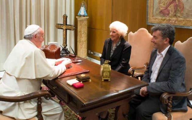 La audiencia se celebró en el salón principal del Aula Pablo VI. Foto: AFP