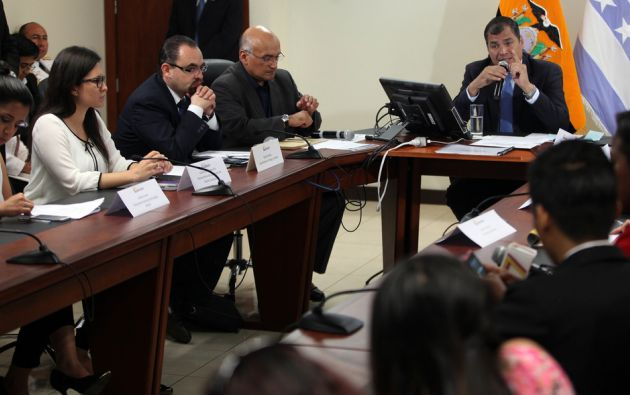 Sus declaraciones fueron en un conversatorio con la prensa durante su visita en Guayaquil. Foto: Flickr / Presidencia de Ecuador