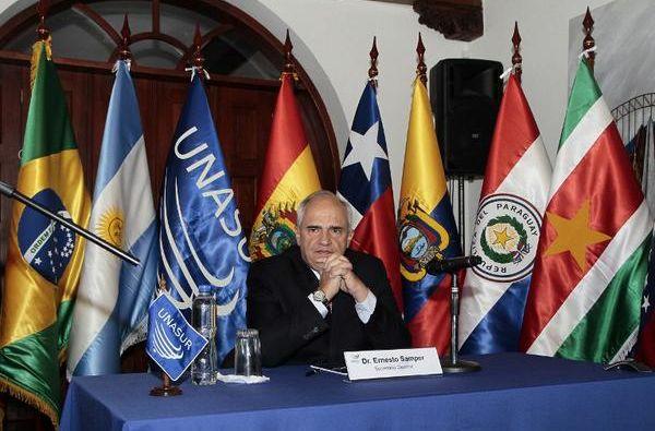 Ernesto Samper informó que la próxima cumbre de la organización se desarrollará en diciembre.