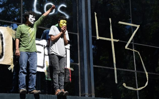 En la ciudad se realizaron protestas por la desaparición de los estudiantes. Foto: AFP