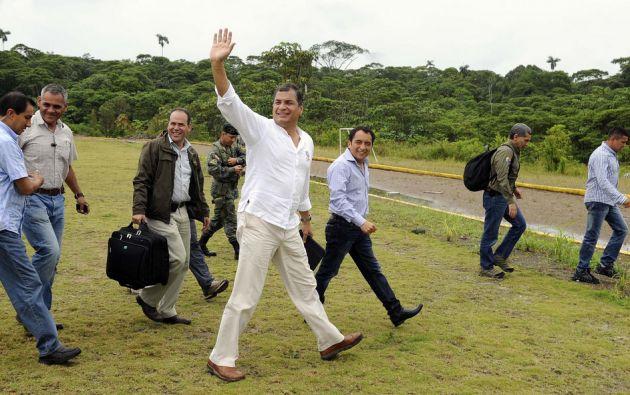 Correa estará hoy en Gonzalo Pizarro. Foto: FLICKR/Presidencia de Ecuador