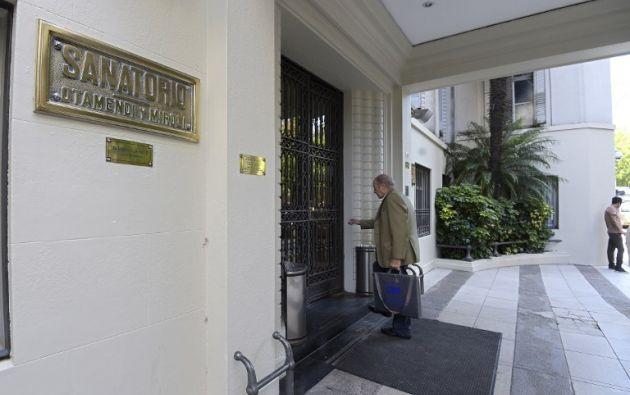 El domingo 9 salió del hospital donde estuvo una semana. Foto: AFP