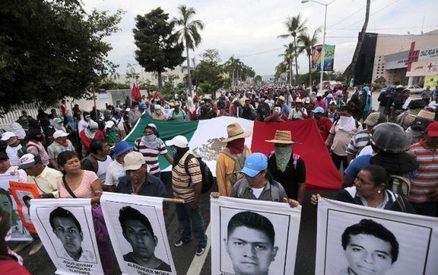 Los manifestantes ingresaron a la terminal aérea. Foto: AFP