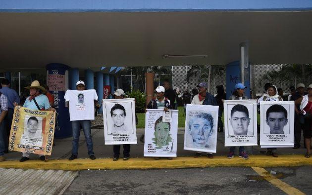 Los 43 estudiantes desaparecieron el 26 de septiembre en Iguala. Foto: AFP