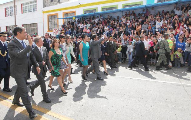 El mandatario asistió a los 194 años de independencia de Ambato. Foto: Flickr / Presidencia Ecuador