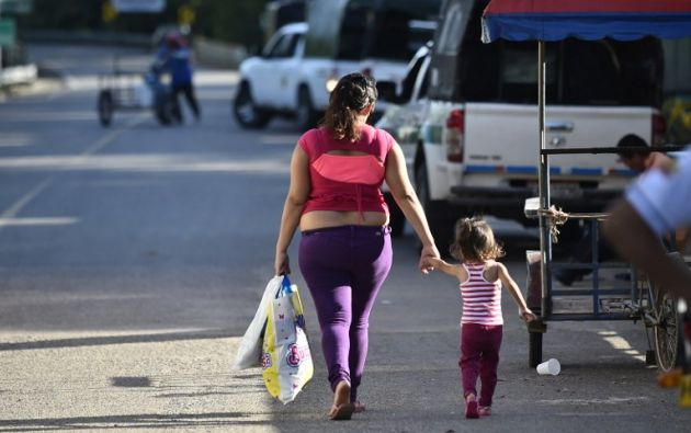 Los desplazados son pobres y sin ninguna protección social. Foto: AFP / Rodrigo Buendia