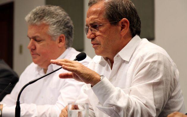 La rueda de prensa la dio el canciller Ricardo Patiño. Foto: Flickr / Cancillería Ecuador