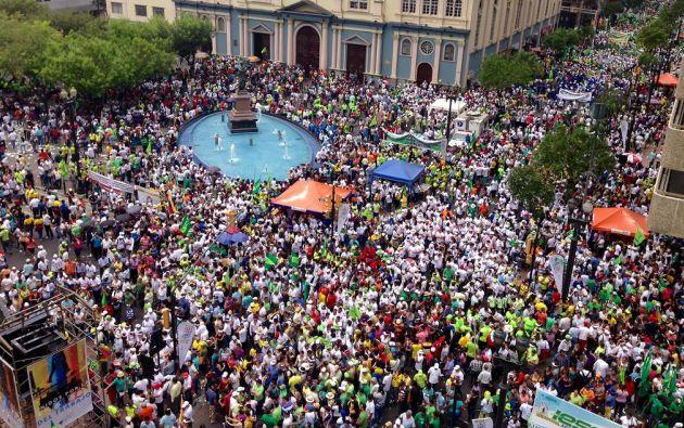La marcha fue en el centro de Guayaquil. Foto: FLICKR/Presidencia de Ecuador