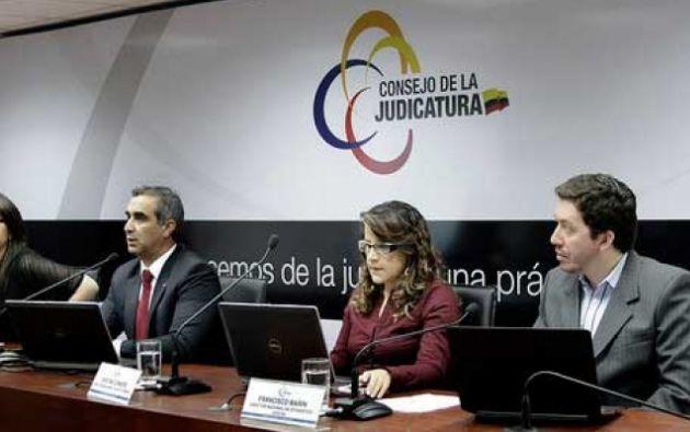 En una rueda de prensa anunciaron los resultados. Foto: Consejo de la Judicatura