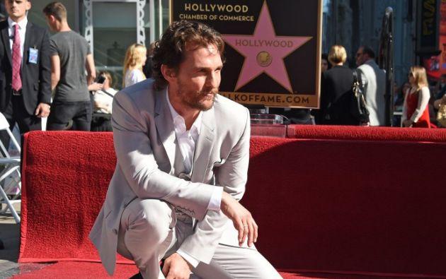 Matthew McConaughey sumó este lunes 17 un premio más a la lista de galardones que ha atesorado en el último año. Foto: AFP