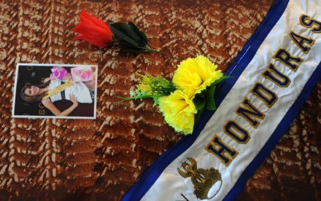 Alvarado fue enterrada este jueves. Foto: AFP