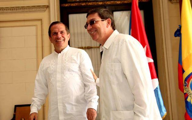 Los cancilleres de Ecuador y Cuba. Foto: Flickr / Cancillería Ecuador