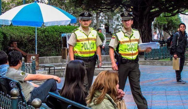 La policía recorrerá los sitios de mayor afluencia. Foto: Archivo Vistazo
