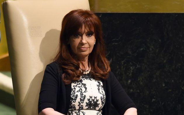 Kirchner reapareció el martes 25. Foto: AFP