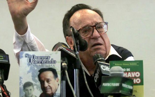 Roberto Gómez Bolaños. Foto: AFP/Mauricio Dueñas