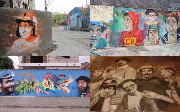 Murales de Chespirito en América.