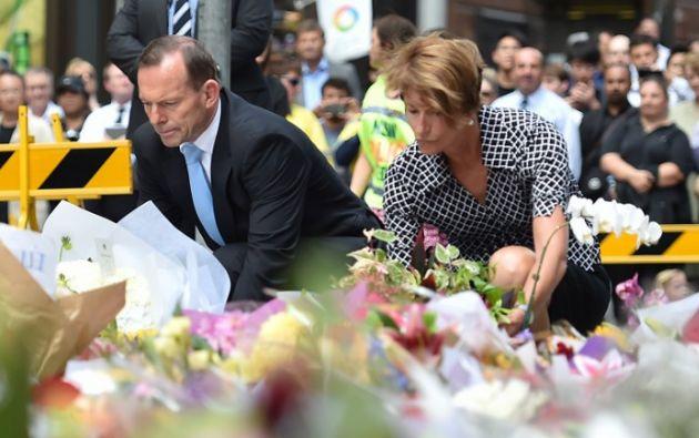 Primer ministro Tony Abbott y su esposa. Foto: AFP