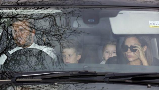 La familia Beckham fue parte de los invitados. Foto: AFP